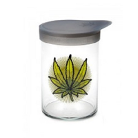 420 Soft Top Jar Green Leaves