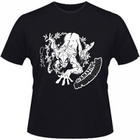 Hero Seeds Spider Skunk Domina Men's Black T-Shirt